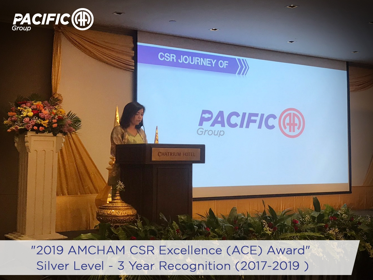 """Pacific Alpine Myanmar (a member of Pacific-AA Group) received """"2019 AMCHAM CSR Excellence (ACE) Award"""""""