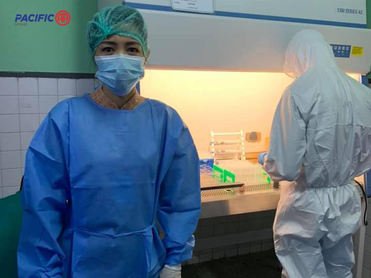 Covid-19 virus စစ်ဆေးနိုင်သော SARS-CoV-2 reagent ဆေးရည်များနှင့် ဆက်စပ်သုံးစွဲနိုင်သောအပိုပစ္စည်းများ ပေးအပ်လှူဒါန်းခြင်း