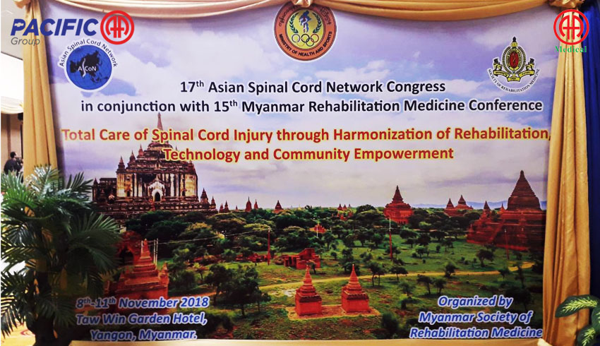 Contribution of conference bags sponsorship and booth display to the 17th Asian Spinal Cord Network Congress in conjunction with the 15th Myanmar Rehabilitation Medicine Conference