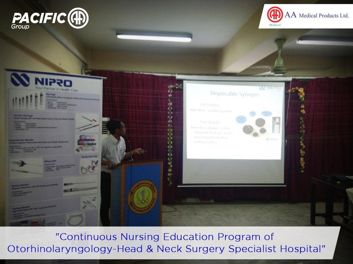 Continuing Nursing Education (CNE ) at Yangon Otorhinolaryngo - Head & Neck Surgery Hospital