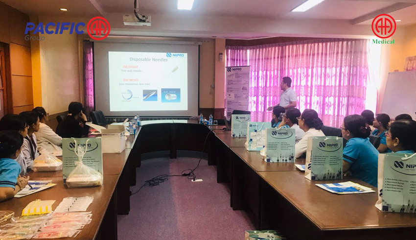 Product presentation to nurses and medical officers of SSC--Shwe Gone Daing Specialist Hospital