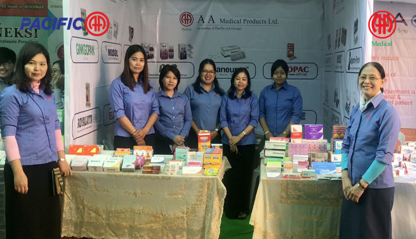 AA Medical Product Ltd participated as Booth Display and breakfast sponsorship in 9th Myanmar Medical Conference which organized by Myanmar Medical Association (Magway)
