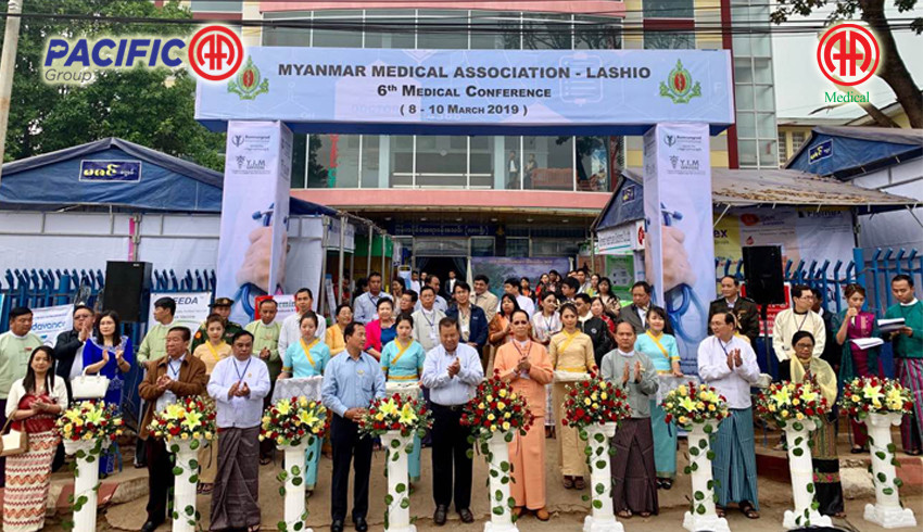 AA Medical Products Ltd and Pacific-AA Group participated as an exhibitor in 6th Medical Conference which organized by Myanmar Medical Association ( Lashio )