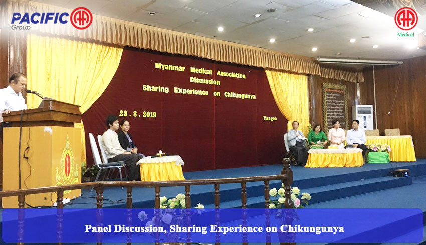 Particiation and supporting the Panel Discussion, Sharing Experience on Chikungunya which organized by Myanmar Medical Association