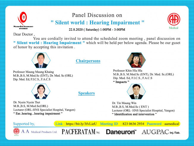 "Panel discussion on "" Silent world : Hearing Impairment """